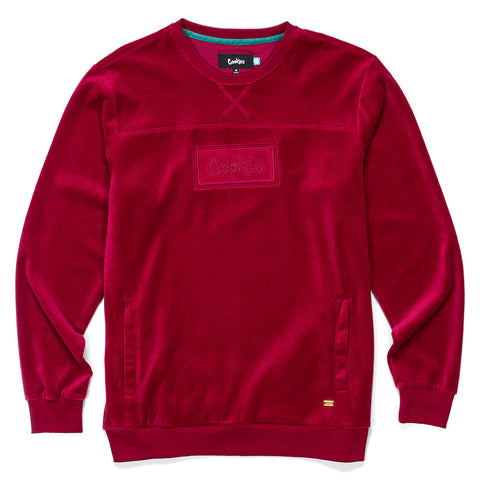 Fifth Ave Velour Crewneck