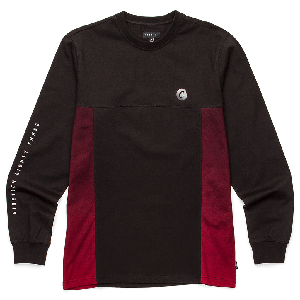 Horizon Paneled L/S Knit (Black)