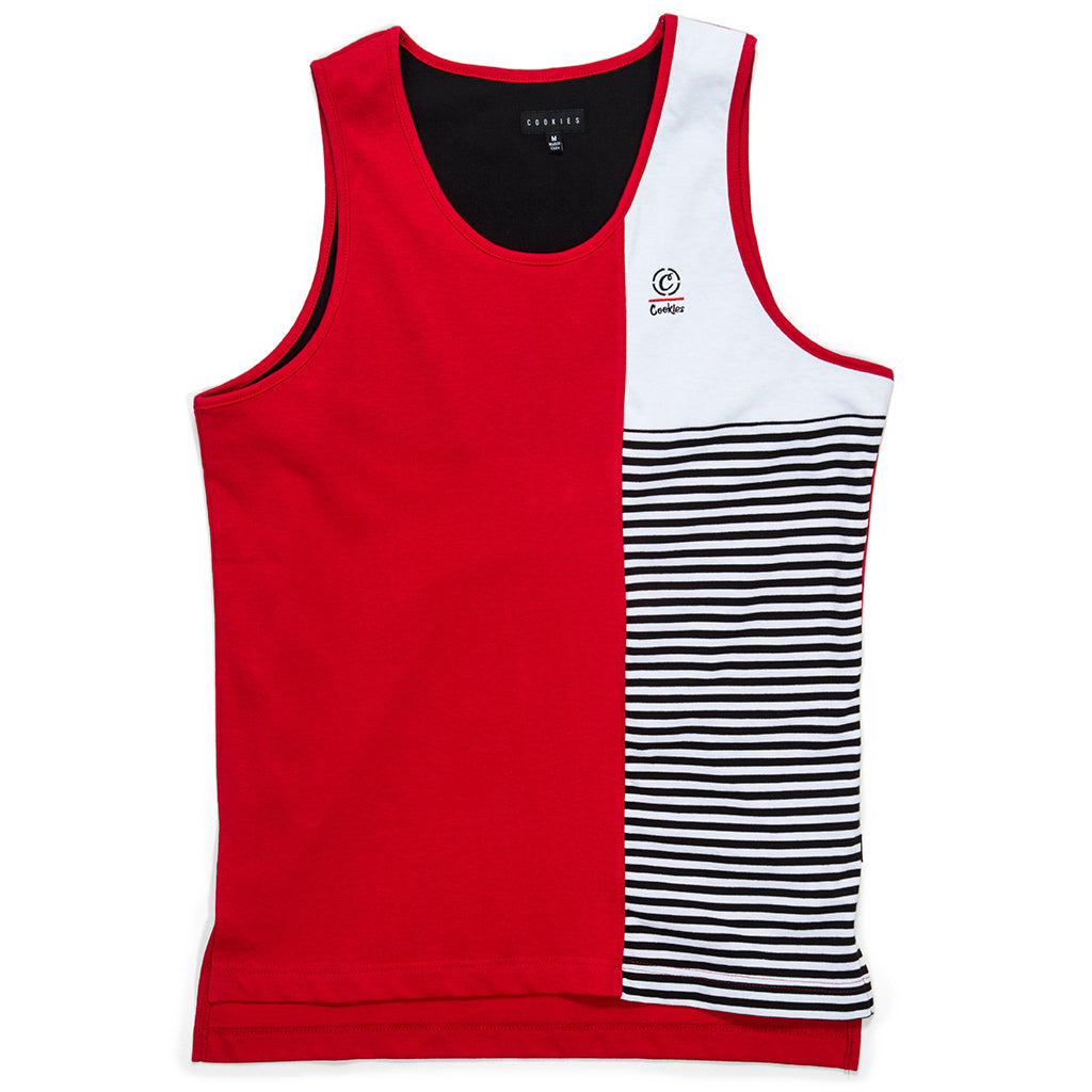 Marina Pieced Tank Top (Red)