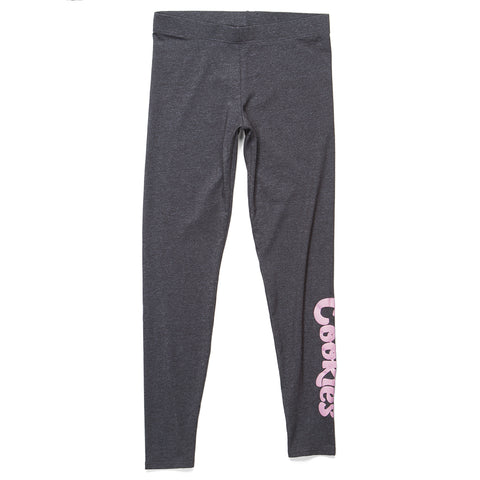 Womens Original Logo Leggings (Charcoal/Pink)