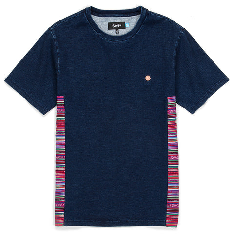 Peruvian Indigo Washed Paneled S/S Knit