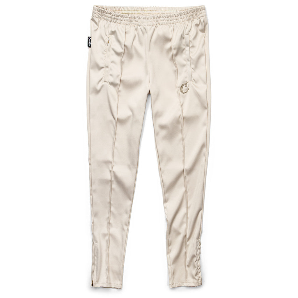 Womens Satin Jumpsuit Pants (Gold)
