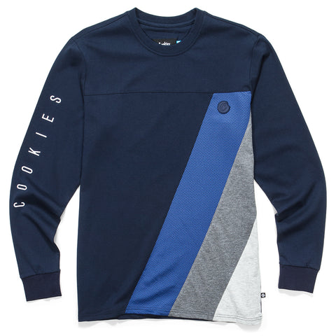 Sierra Jacquarded L/S Knit (Navy)