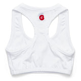 Women's Text Logo Sports Bra (White)