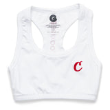 Women's C Logo Sports Bra (White)