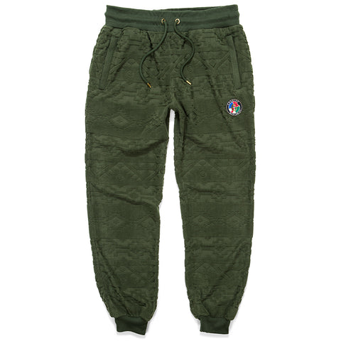Tahoe Jacquarded Sweatpants (Olive)