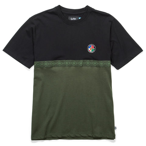 Tahoe Pieced Knit (Black/Olive)