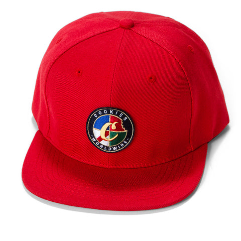 Tahoe Embroidered Snapback (Red)