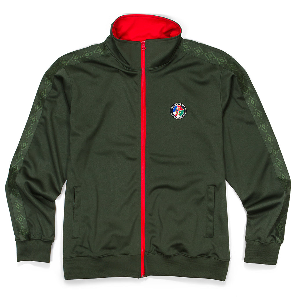 Tahoe Native Track Jacket (Olive)