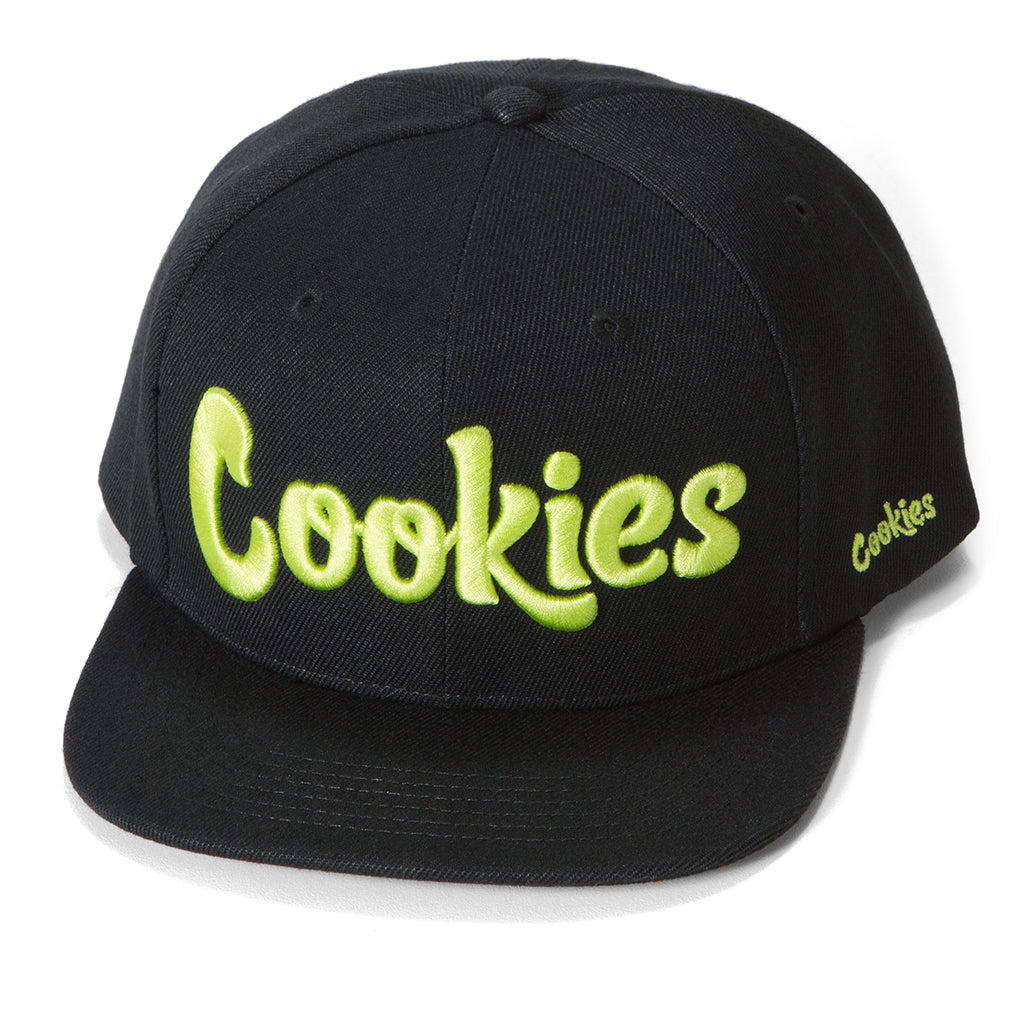 Original logo Snapback (Black/Volt Yellow)