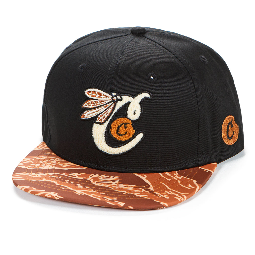 Top of the Key Twill Embroidered Snapback w/ Tiger Camo Bill