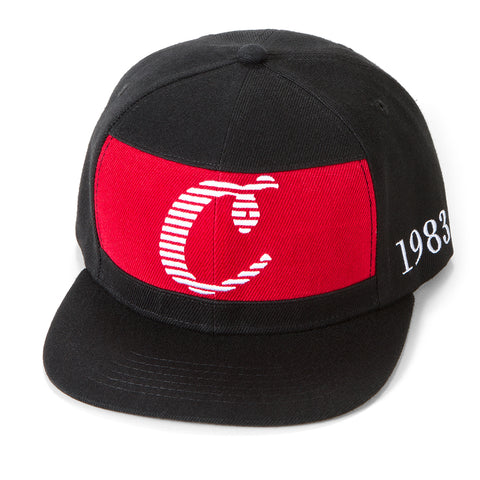 Tournament Paneled Snapback (Black)