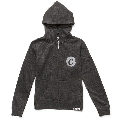 Womens C-Bite Zip-up Hoodie (Charcoal/Grey)