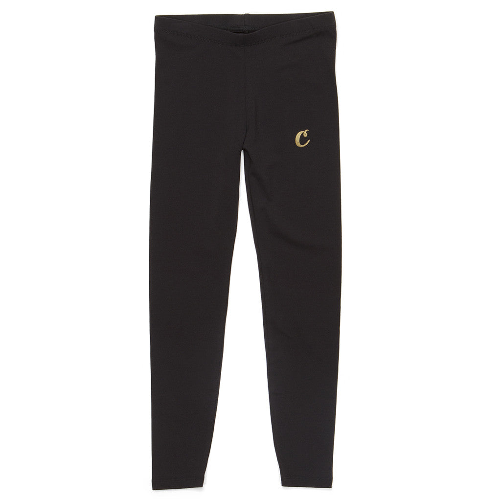Womens C-Logo Leggings (Black/Gold)