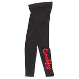Womens Thin Mint Leggings (Black/Red)