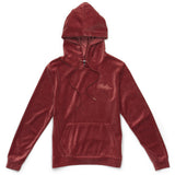 Womens Embroidered Script Hoodie (Mauve)