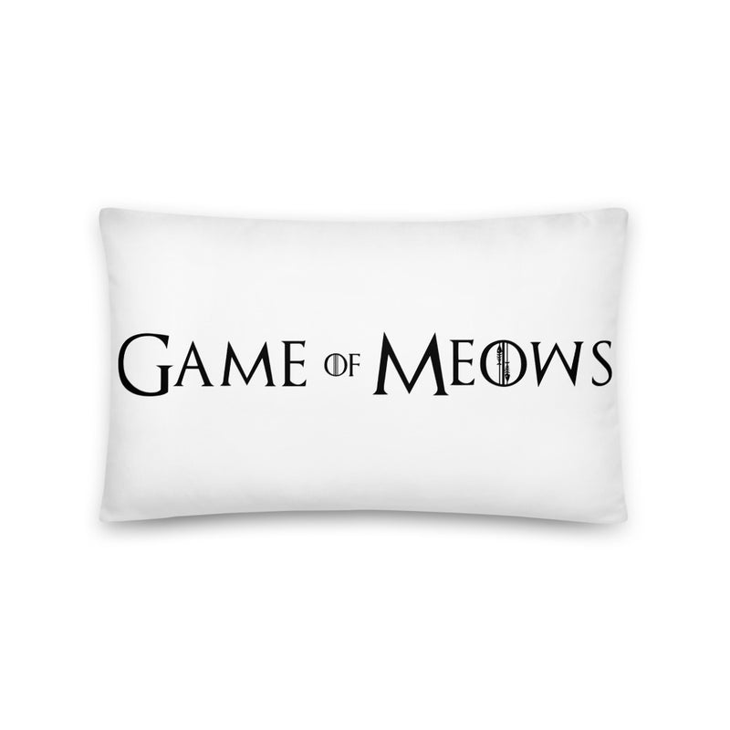 Game Of Meows Pillow