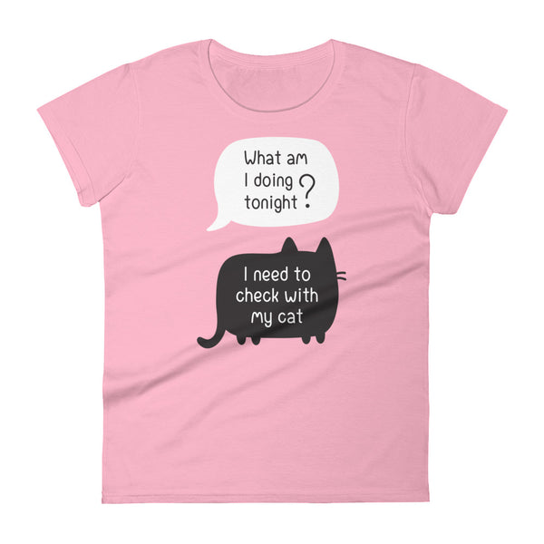 I Need to Talk With My Cat Fashion Fit T-Shirt