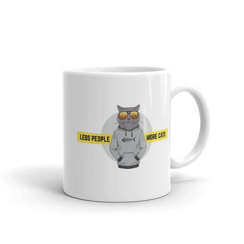 Less People More Cats Mug