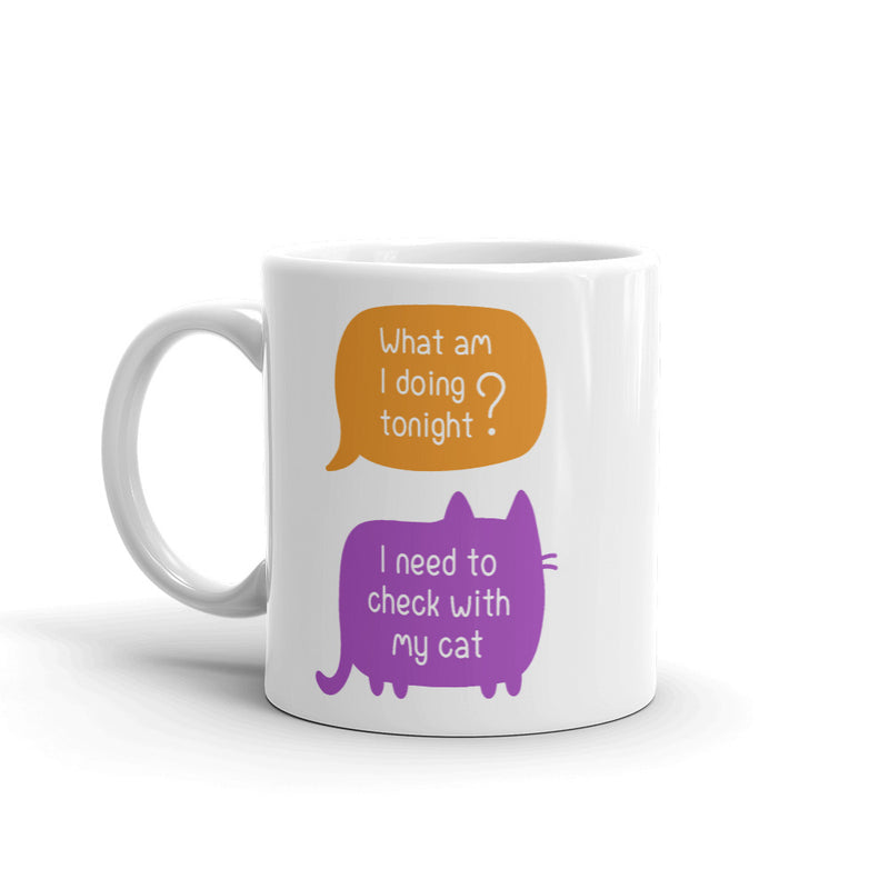 Check With Cat Mug