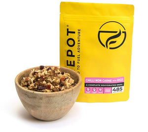 Firepot Vegan Chilli Non Carne and Rice Regular Serving