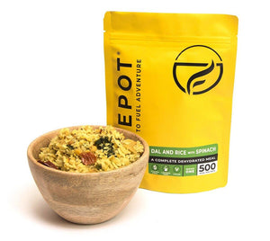 Firepot Dal and Rice with Spinach Regular Serving