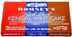 Romneys Kendal Mint Cake Tripple Pack - Brown White & Chocolate 227g