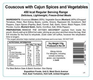 Expedition Foods Vegan Couscous with Cajun Spices and Vegetables