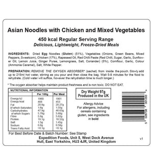 Expedition Foods Asian Noodles with Chicken and Mixed Vegetables