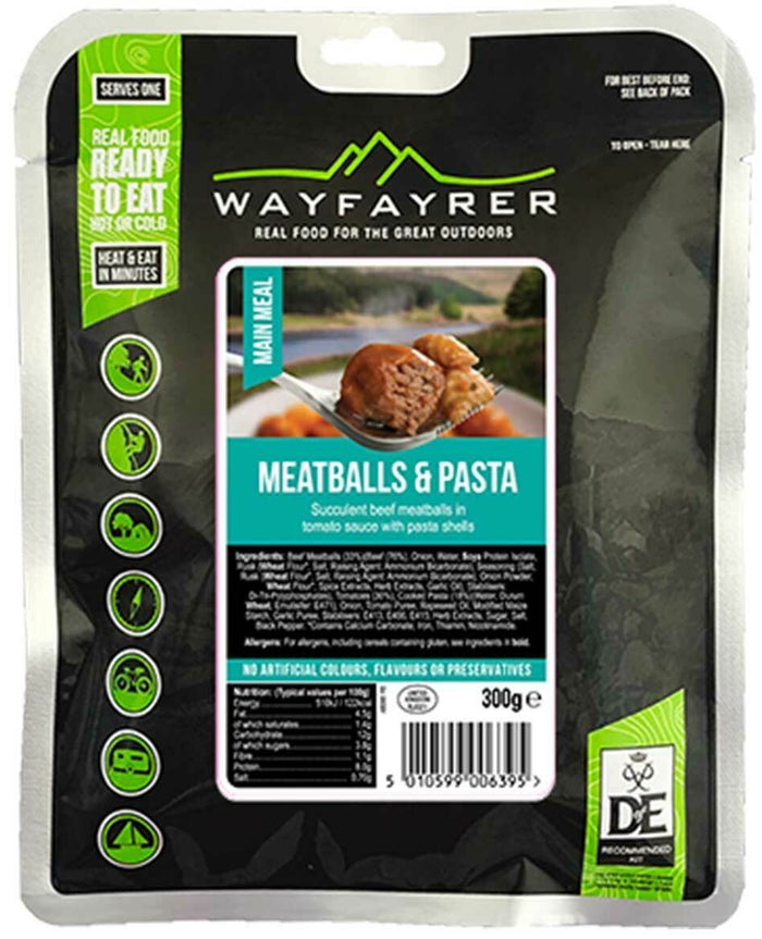 Wayfayrer Pasta and Meatballs Ready-to-Eat Camping Food