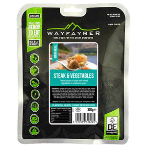 Wayfayrer Steak and Vegetables Ready-to-Eat Camping Food