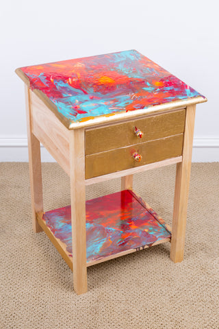 Painting on table - blown pattern