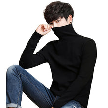 Charger l'image dans la galerie, Black Turtleneck Men Knitted Sweater Classic Solid Color Casual Elasticity Pullover Men Sweaters Turtle Neck Long Sleeve