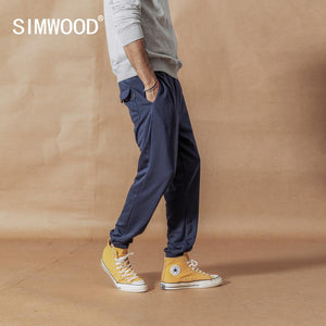 SIMWOOD Track Pants men loose casual high quality fashion Sweatpants jogger high quality texture ankle-length trousers SI980559