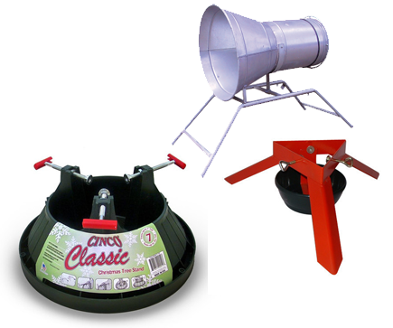 Christmas tree stands and equipment