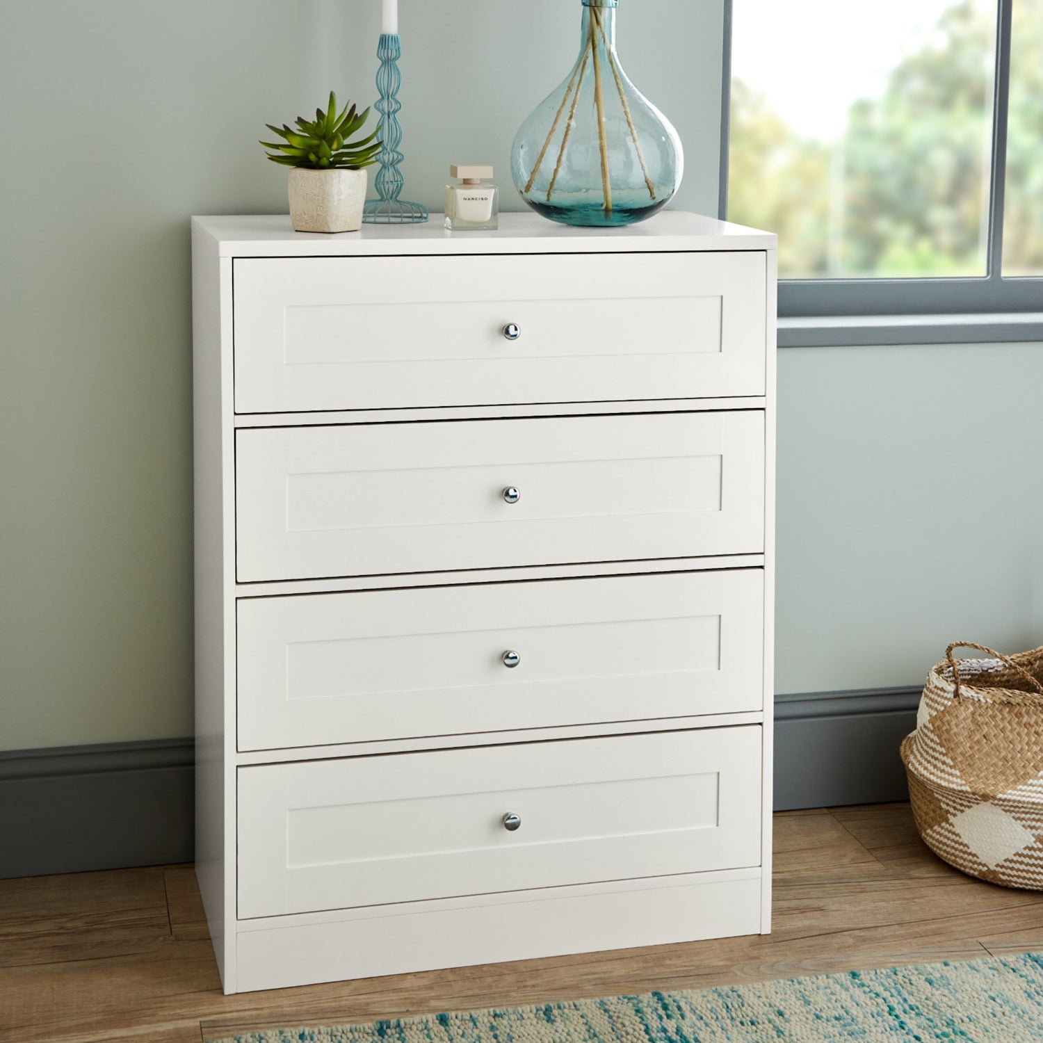 Commode Stevie - 4 Tiroirs - Blanche
