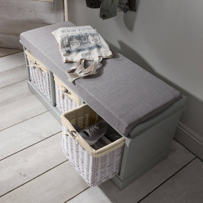 Fyfield Hallway Shoe Storage Bench with cushion - In Stock Date - 27th May 2020 - Laura James
