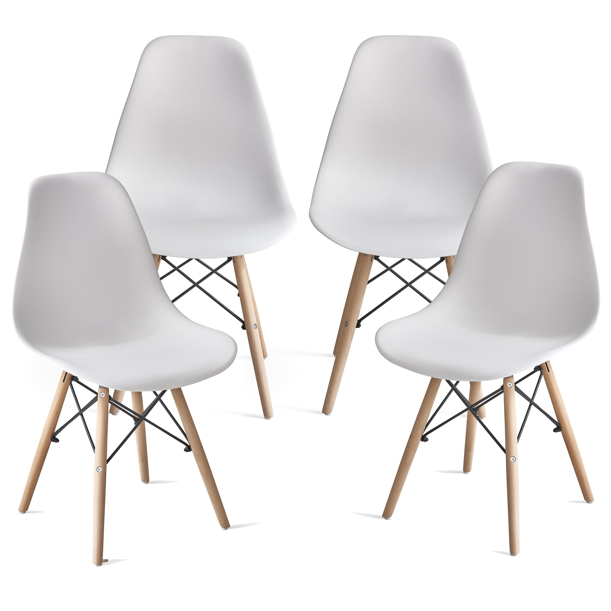 Chaise Inge Inspirée Eames Blanche x 4
