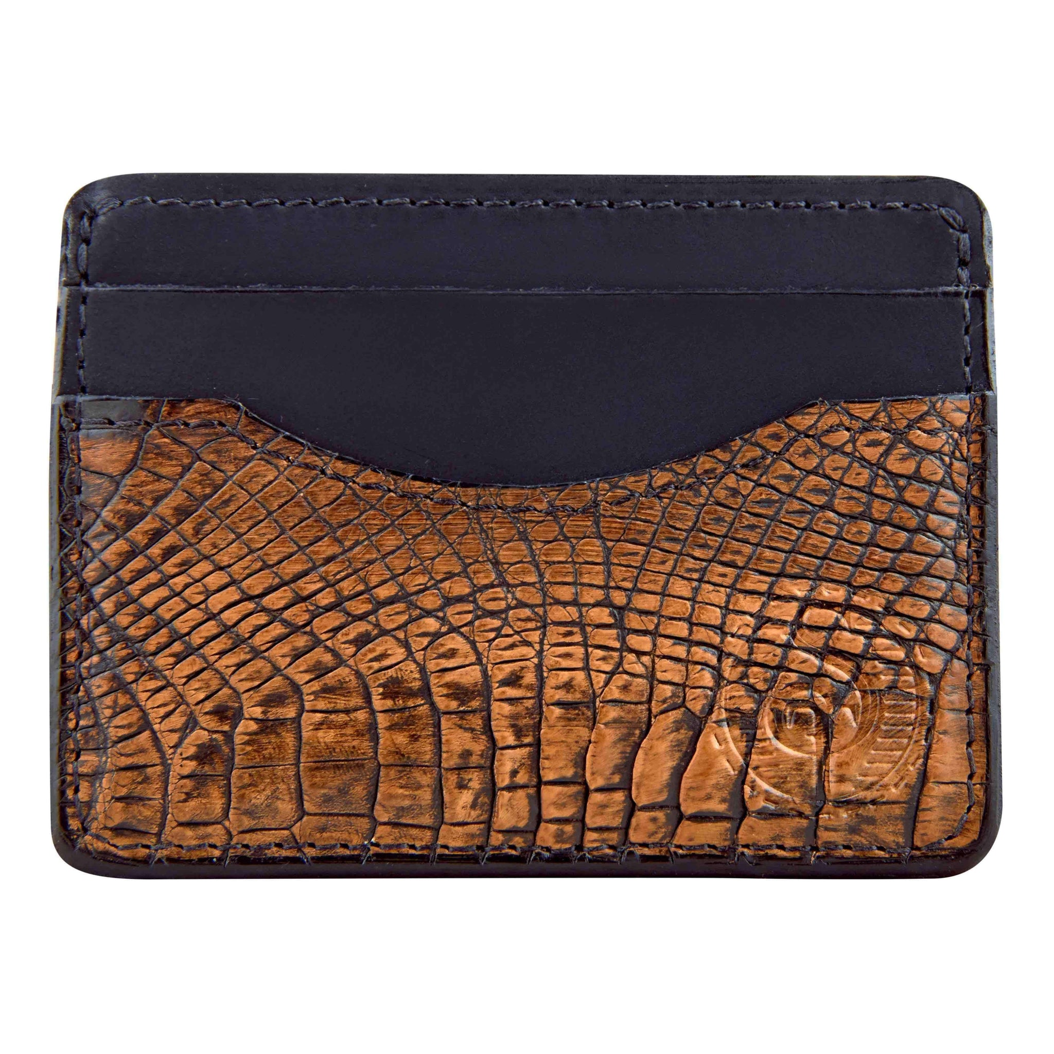Alligator skin front pocket wallet for men