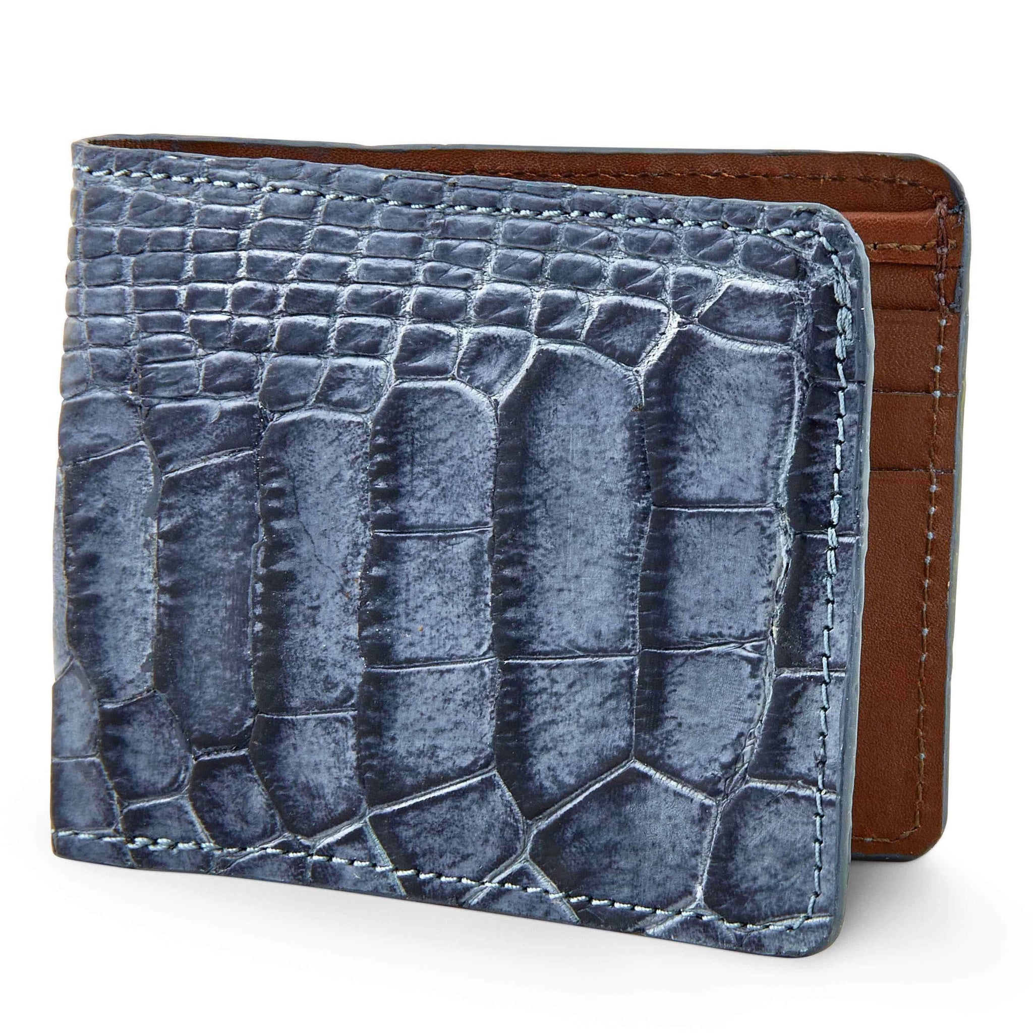 Two tone alligator skin wallet