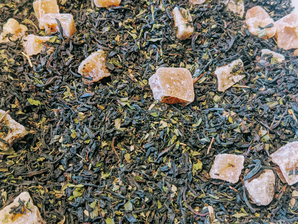 Black GingerMint Tea // MoreFya Herbal Tea and Smoke Blends// Fruity//Minty//Spicy