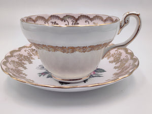 Vintage Foley Rose Gold Tea Cup and Saucer