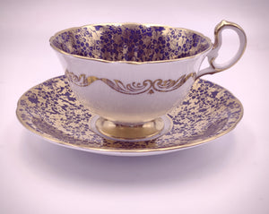 Vintage Aynsley Navy Blue and Gold Tea Set