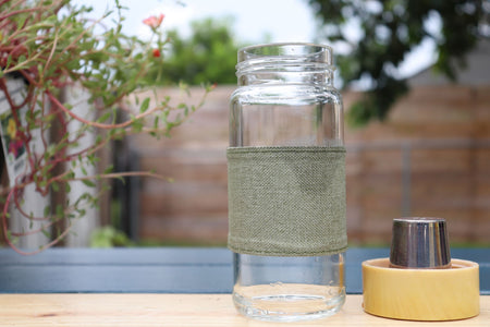 Tea-to-Go Infuser Glass Bottle // MoreFya Herbal Tea and Smoke Blends// Enjoy Your Tea To-Go