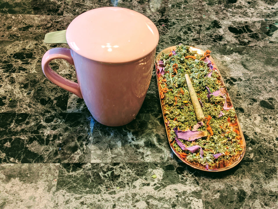 Porcelain Infuser Cup // MoreFya Herbal Tea and Smoke Blends// MoreFya Herbal Tea and Smoke Blends