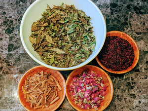 Pretty In Pink Tea // MoreFya Herbal Tea and Smoke Blends// Astringent//Antioxidants//Vitamin C