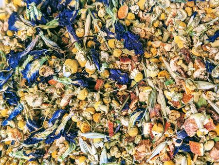 Blue Daze Tea // MoreFya Herbal Tea and Smoke Blends// Calming//Nourishing//Refreshing