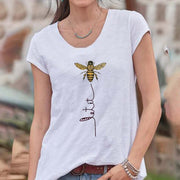 Bee Printed Casual Short-Sleeved Shirt