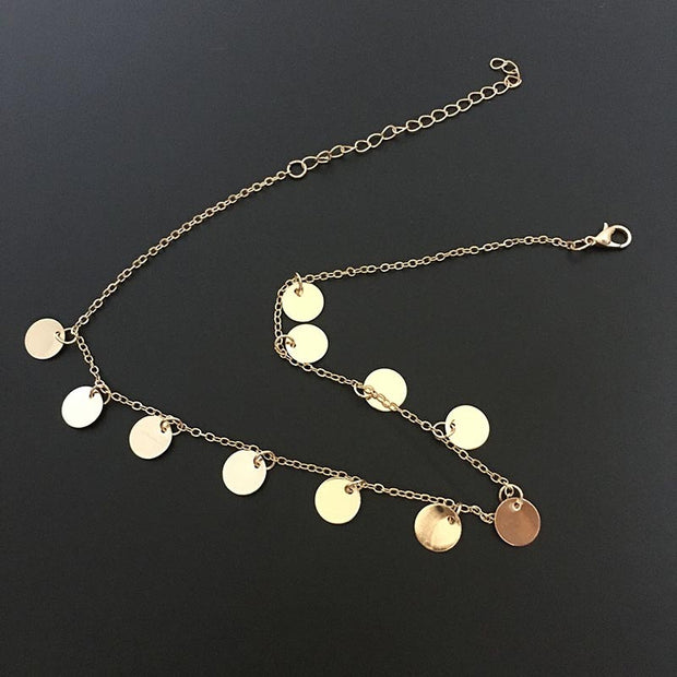 Round Sequin Fashion Simple Necklace