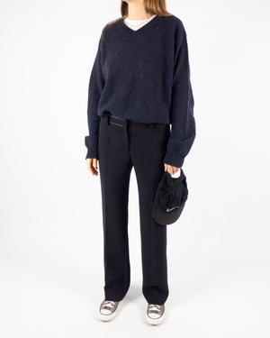 Navy Wool Knit
